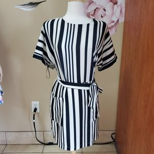 Felicity and Coco Striped Tie Dress